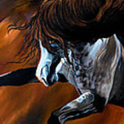 Dream Horse Series 155 - Wild Mustang Pawing The Air Art Print