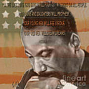 Dream Or Prophecy - Dr Rev Martin  Luther King Jr Art Print by Reggie Duffie