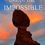 Dream The Impossible Card Poster Two Art Print
