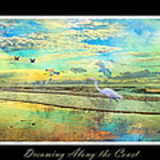 Dreaming Along The Coast -- Egret  Art Print by Betsy Knapp