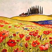 Dreaming Of Tuscany Art Print