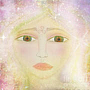 Dreams Of Avalon Tipple Goddess Guinevere  Art Print by Sacred  Muse