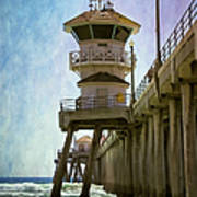 Dreamy Day At Huntington Beach Pier Art Print
