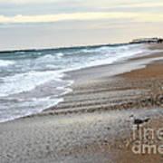 Dreamy Ocean Beach North Carolina Coastal Beach  Print by Kathy Fornal