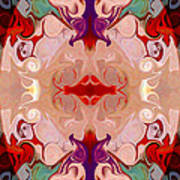 Drenched In Awareness Abstract Healing Artwork By Omaste Witkows Art Print