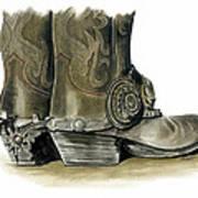 Dress Boots Art Print