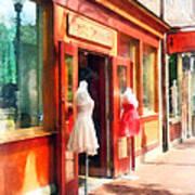 Dress Shop Fells Point Md Art Print