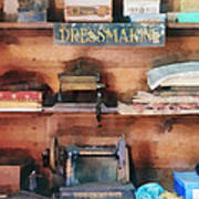 Dressmaking Supplies And Sewing Machine Art Print