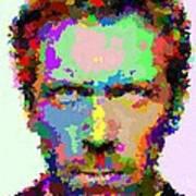 Dr. House Portrait - Abstract Art Print
