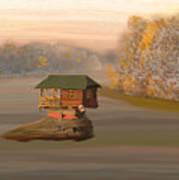 Drina House In Morning Mist Art Print