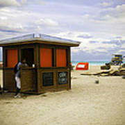 Drink Of The Day - Miami Beach - Florida Art Print