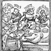 Drinking Party, 1516 Art Print