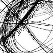 Drippy Circles Black Art Print