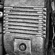 Drive In Movie Speaker In Black And White Print by Paul Ward