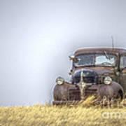 A Rusty Abandoned Truck Near Sturgis South Dakota Art Print