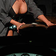 Drivers View Of A Pinup Girl Art Print
