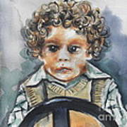 Driving The Taxi Art Print