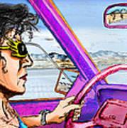 Driving Through Arizona Art Print