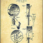 Droop Hand  Drum Patent Drawing From 1892 - Vintage Art Print