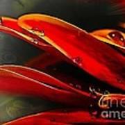 Drop Dead Red Art Print by Wobblymol Davis
