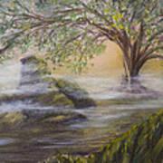 Druid's Altar At Mystic River Art Print