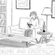 Drunk And Orderly -- A Woman Reads A Book Art Print