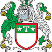 Drury Coat Of Arms Irish Art Print