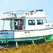 Dry Docked Cabin Cruiser Art Print