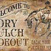 Dry Gulch Hideout Art Print by JQ Licensing