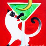 Moon Martini Art Print