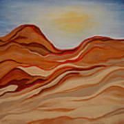 Dubai Desert Art Print