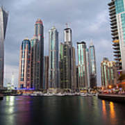 Dubai Marina Afternoon Art Print