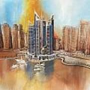 Dubai Marina Complex Art Print