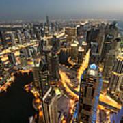 Dubai Marina Twilight Art Print