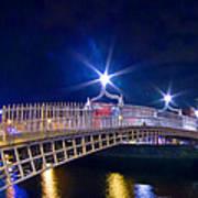 Dublin - Ha'penny Bridge  Art Print