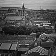 Dublin Ireland Cityscape Bw Art Print