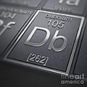 Dubnium Chemical Element Art Print