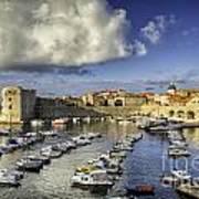Dubrovnik Harbor Art Print