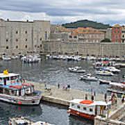 Dubrovnik Old Harbour Art Print