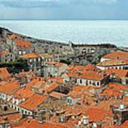 Dubrovnik Rooftops And Walls Art Print