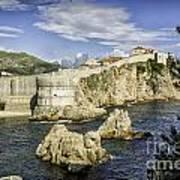 Dubrovnik Walled City Art Print