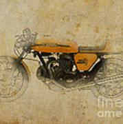 Ducati 750 Sport 1973 Art Print by Pablo Franchi