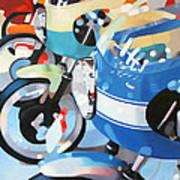 Ducati Line Art Print by Guenevere Schwien