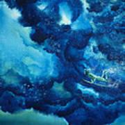 Duck Diver Green Art Print