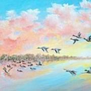 Ducks Two Art Print