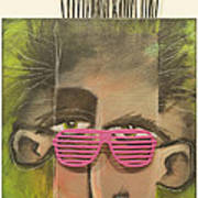 Dude With Pink Sunglasses Art Print
