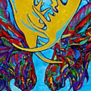 Duelling Moose Art Print