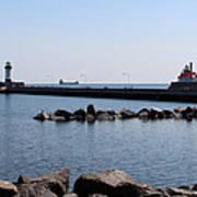 Duluth Harbor Lighthouses  Art Print