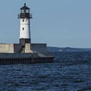 Duluth N Pier Lighthouse 40 Art Print