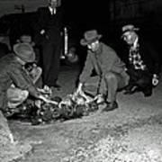 Dumping Whiskey In Mississippi 1951 Art Print